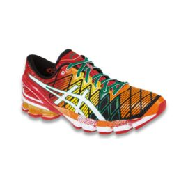 ASICS Men's Gel Kinsei 5 Running Shoes - Red/Yellow/Orange