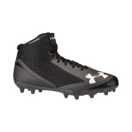 Under Armour Men's Nitro Icon Mid Football Cleats - Black / Grey / White