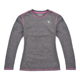 Diadora Girls' Long Sleeve Crew Tech Top