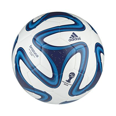 adidas Brazuca World Cup 2014 Glider Soccer Ball Size 5 White/Blue