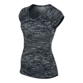 Nike Run Miler Printed Women's V-Neck Short Sleeve Shirt