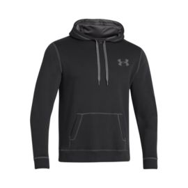 Under Armour Rival Cotton Men's Hoodie  - Black