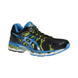 ASICS Men's Gel Nimbus 16 Running Shoes - Black/Blue