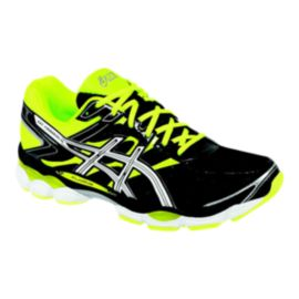 ASICS Men's Gel Cumulus 16 Running Shoes - Black/Lime Green