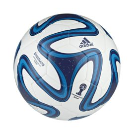 adidas Brazuca World Cup 2014 Glider Soccer Ball Size 4 White/Blue