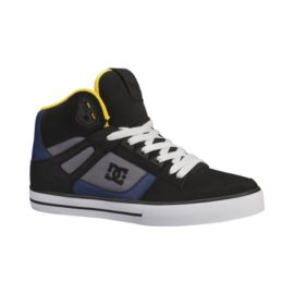 DC Men's Spartan High WC Skate Shoes - Black/Dark Slate