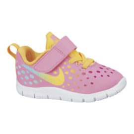 Nike Toddler Girls Free Express Running Shoes - Pink/White