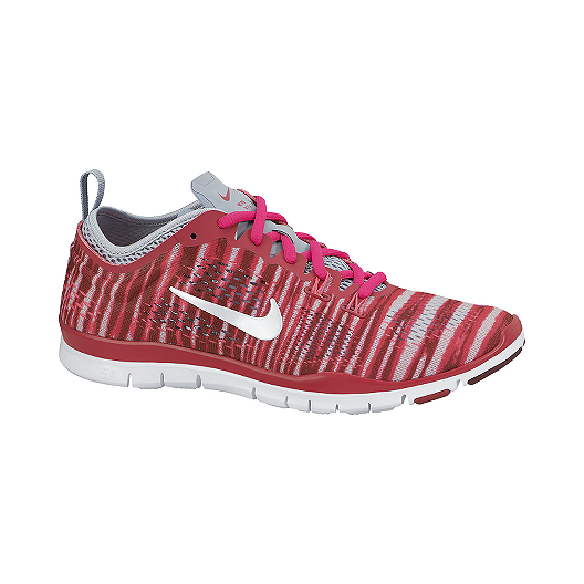 03c96b3198ff8 Nike Women s Free 5.0 TR Fit 4 Print Training Shoes - Red Pattern Grey