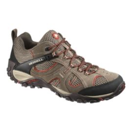 Merrell Men's Yokota Trail Vent Bungee Hiking Boots - Light Brown/Grey
