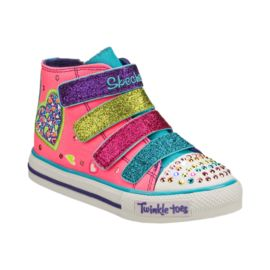 Skechers Twinkle Toes Toddler Girls' High Top Casual Shoes