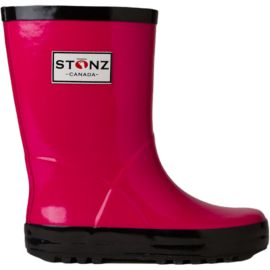 Stonz Toddler Girls Rain Boots - Pink/Black