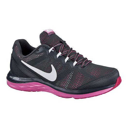 aa9a636f892d1 Nike Women s Dual Fusion Run 3 Running Shoes - Dark Grey Pink ...