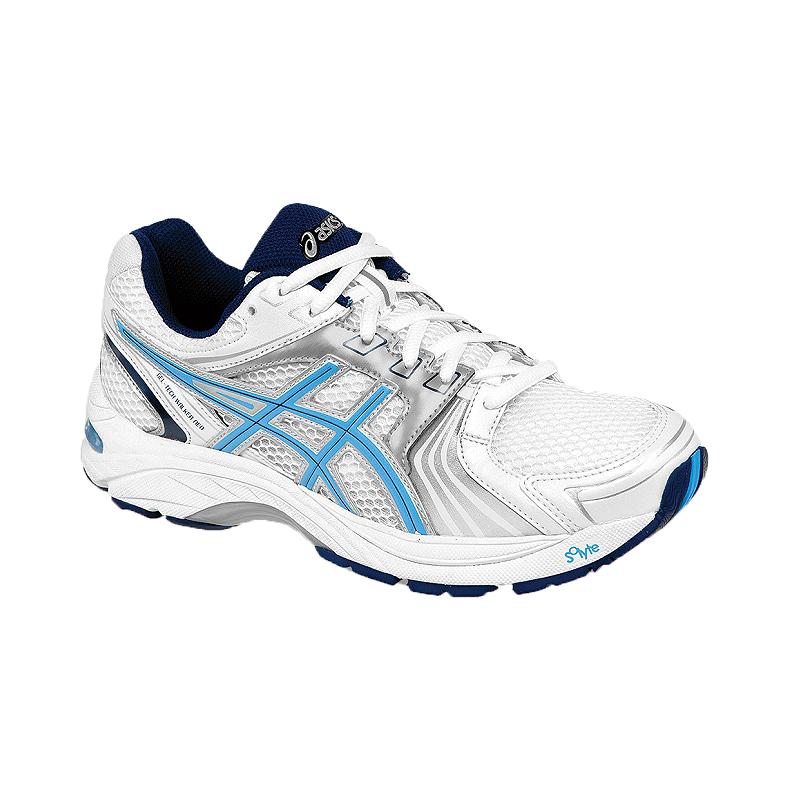 Asics Women S Gel Tech Walker Neo 4 Walking Shoes White Blue