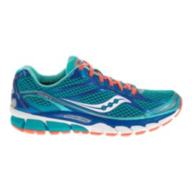 Saucony Women's PowerGrid Ride 7 Running Shoes - Teal/Blue/Coral