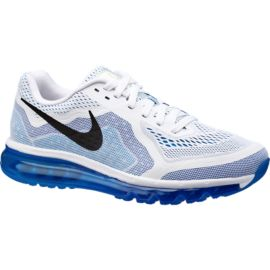 Nike Air Max 2014 Men's Running Shoes - White / Blue / Black