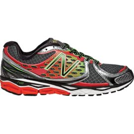 New Balance Men's 1080 D Running Shoes - Grey/Red/Lime Green