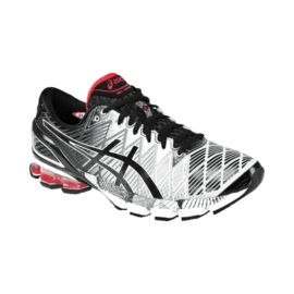 ASICS Men's Gel Kinsei 5 Running Shoes - Black/Silver/Red