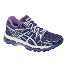 ASICS Women's Gel Kayano 20 Running Shoes - Purple Lavender/White