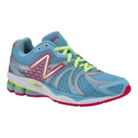 New Balance Women's 1225 B Running Shoes - Aqua Blue/Pink/Green