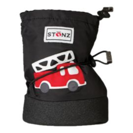 Stonz Toddler Booties Fire Truck  Winter Boots - Black