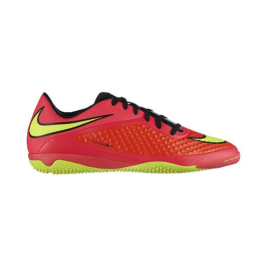 1b1aa3ce0af6 Nike Men s HyperVenom Phelon Indoor Soccer Shoes - Red Orange Volt Green
