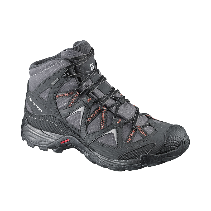 cf363a5469 Salomon Men's Crossroads Mid GTX Lite-Hiking Shoes - Black/Red ...