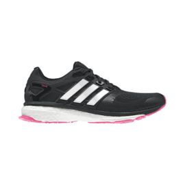adidas Women's Energy Boost Running Shoes - Black/White/Pink