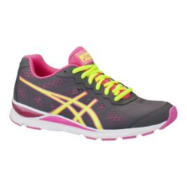 ASICS Women's Gel Storm 2 Training Shoes - Grey/Yellow/Pink