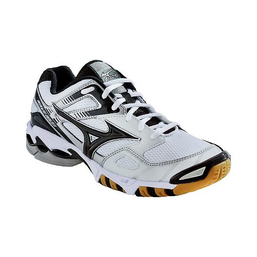 cheaper 63285 ef700 Mizuno Men s Wave Bolt 3 Indoor Court Shoes - White Black Gum   Sport Chek