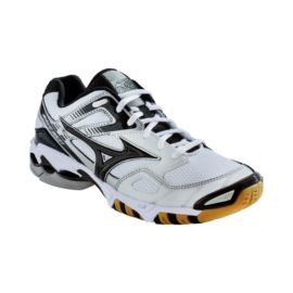 Mizuno Men s Wave Bolt 3 Indoor Court Shoes - White Black Gum ... 9345a46aff