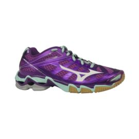 Mizuno Women's Wave Lightning RX3 Indoor Court Shoes - Purple/Mint Blue