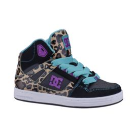 DC Rebound Mid EL Girls' Skate Shoes