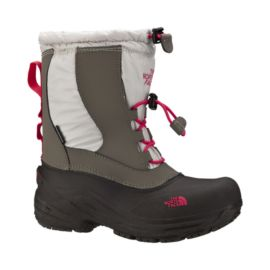 The North Face Girls' Alpenglow 2 Waterproof Boots - Ivory/Rocket Red