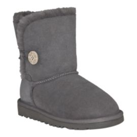 UGG Girls' Bailey Button Boots - Grey
