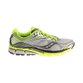 Saucony Men's PowerGrid Triumph 11 Running Shoes  - Silver/Lime Green/Black