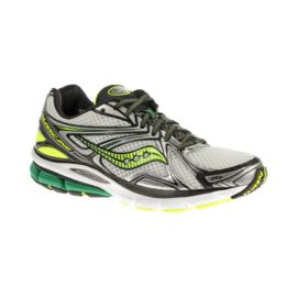 Saucony Men's PowerGrid Hurricane 16 Running Shoes - White/Black/Green