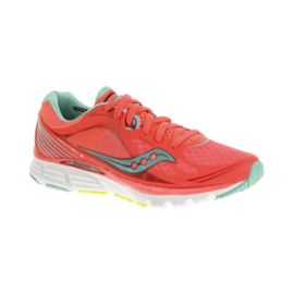 Saucony Women's PowerGrid Kinvara 5 Running Shoes - Coral Pink/Blue