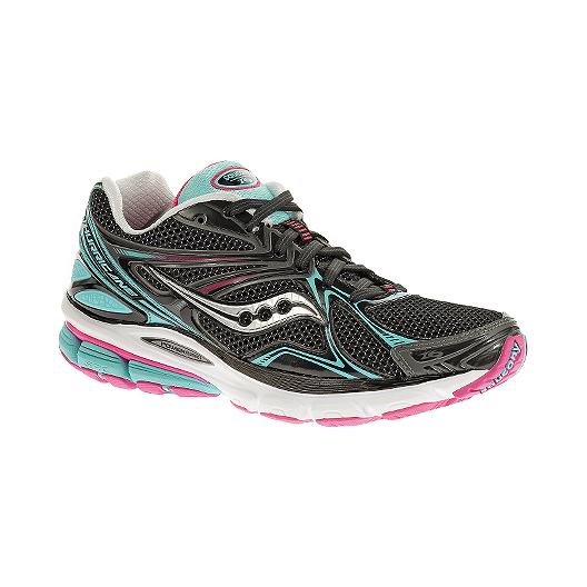 88cba5a8f6ae Saucony Women s PowerGrid Hurricane 16 Running Shoes - Black Blue Pink