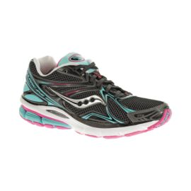 Saucony Women's PowerGrid Hurricane 16 Running Shoes - Black/Blue/Pink