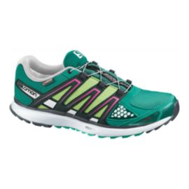 Salomon Women's X-Scream GTX Running Shoes - Green/Yellow/Black