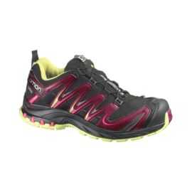 Salomon Women's XA Pro 3D Ultra 3 GTX Trail Running Shoes - Black/Purple/Lime Green