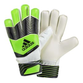 Adidas Predator Fingersave Junior Goalkeeper Gloves- Green/White