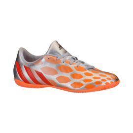 adidas Women's Predito Indoor Soccer Shoes - Silver/Orange/Red