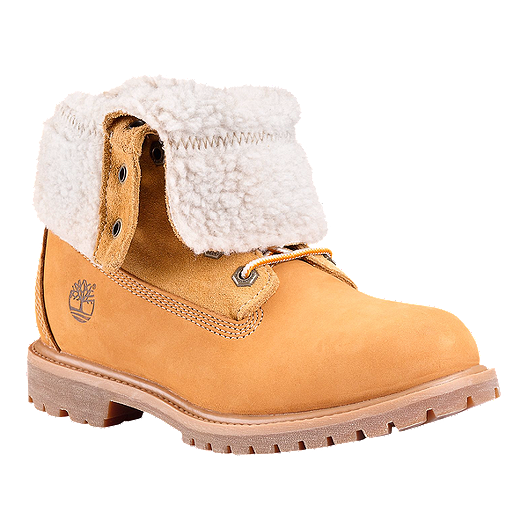 Timberland Women's EK Authentics Teddy Fleece Boots Wheat