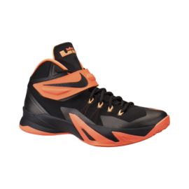 Nike Men's Zoom Soldier 8 Basketball Shoes - Black/Orange/White