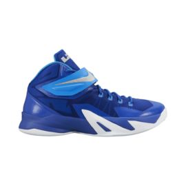 Nike Men's Zoom Soldier 8 Basketball Shoes - Blue/White