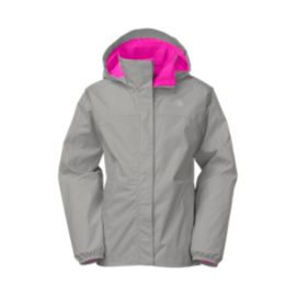 The North Face Resolve Girls' Reflective Rain Jacket