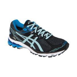 ASICS Women's GT-1000 3 GTX Running Shoes - Black/Ice Blue