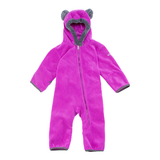 55f1a6378 Columbia Baby Girls' Tiny Bear Bunting Snow Suit - 530 BRIGHT PLUM