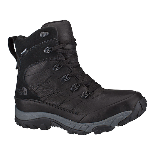 c65f3eebc The North Face Men's Chilkat Leather Insulated Winter Boots - Black ...